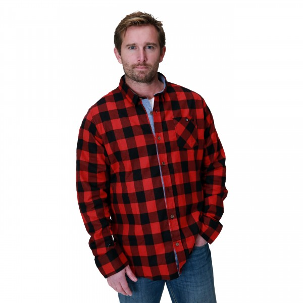 Feral Classic Check Shirt – Red & Black