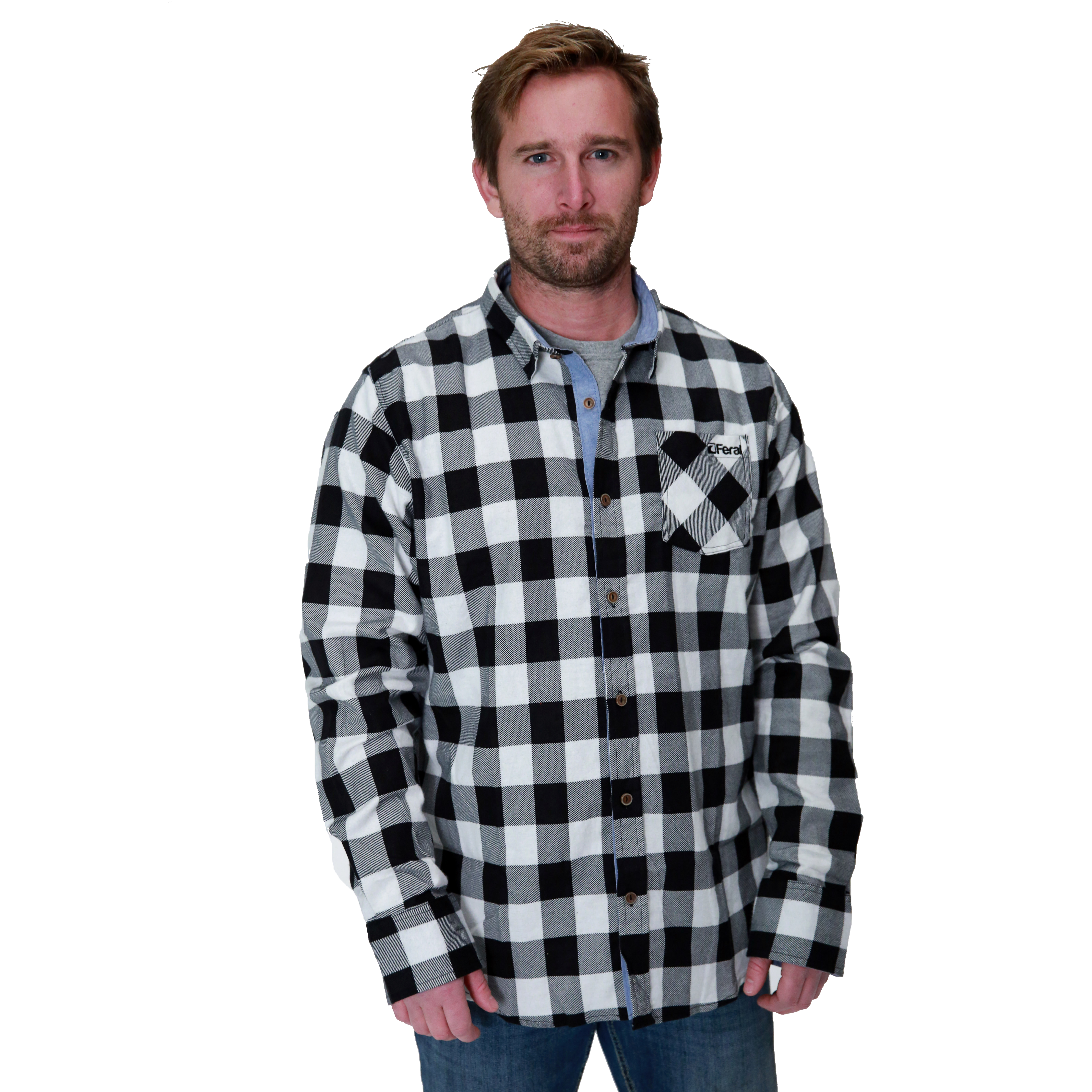 Feral Classic Check Shirt – White & Black (Copy)