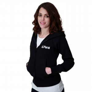 Feral Classic Zip-Up Hoody - Black - Womens