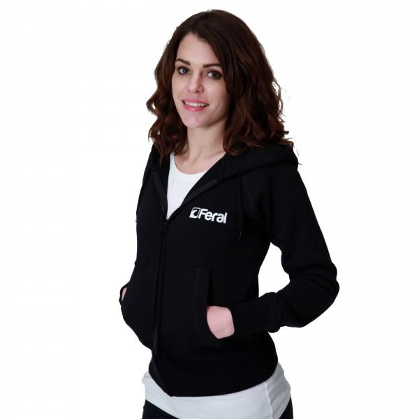 Feral Classic Zip-Up Hoody – Black – Womens