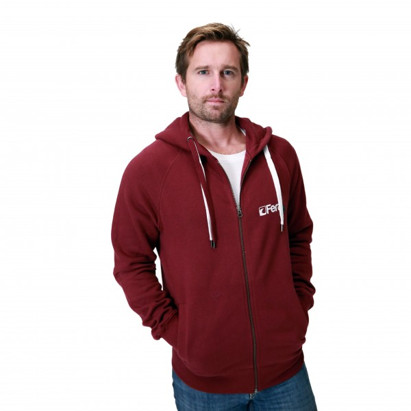 Feral Classic Zip-Up Hoody – Claret Red