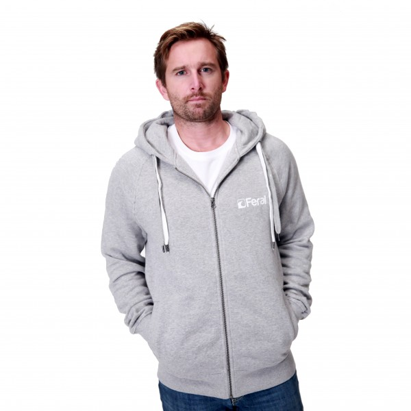 Feral Classic Zip-Up Hoody – Light Heather