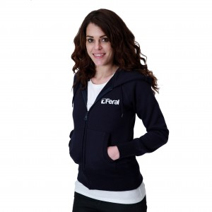 Feral Classic Zip-Up Hoody - Navy - Womens