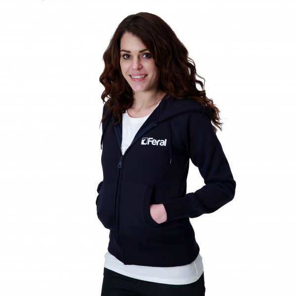 Feral Classic Zip-Up Hoody – Navy – Womens