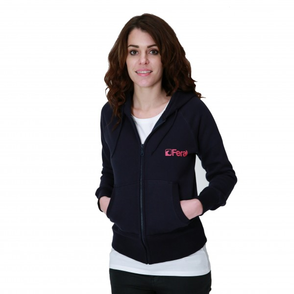 Feral Coral Zip-Up Hoody – Navy – Womens