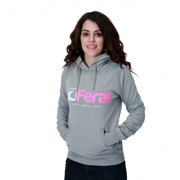 Feral Euphoria Hoody – Light Heather – Womens