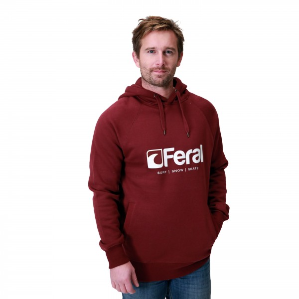 Feral Original Hoody – Claret Red