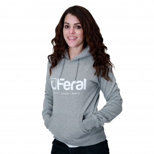 Feral Original Hoody - Light Heather - Womens