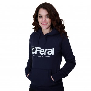 Feral Original Hoody - Navy - Womens