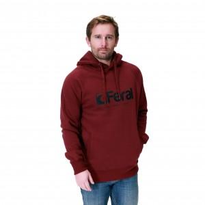 Feral Original Noir Hoody - Claret Red